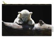 Young Polar Bear On A Log Carry-all Pouch