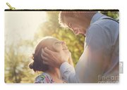 Young Romantic Couple Flirting In Sunshine Carry-all Pouch