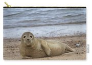 Young Seal Pup On Beach - Horsey, Norfolk, Uk Carry-all Pouch