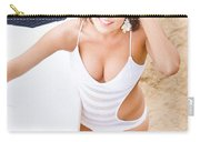 Young Surfer Woman Carry-all Pouch