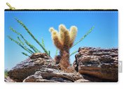 Young Teddy Bear Cholla Carry-all Pouch by Kelley King