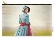 Young Victorian Woman On A Country Path Carry-all Pouch