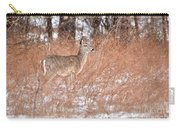 Young White-tailed Deer In The Snow Carry-all Pouch