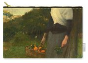 Young Woman In A Garden Of Oranges Carry-all Pouch
