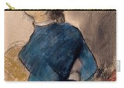 Young Woman In Blue Carry-all Pouch