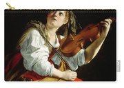 Young Woman With A Violin Carry-all Pouch