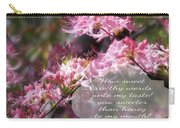 Sweet Words - Verse Carry-all Pouch