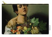 Youth With A Basket Of Fruit Carry-all Pouch by Michelangelo Merisi da Caravaggio