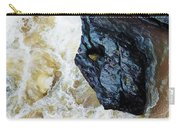 Yuba Blue Boulder In Stormy Waters Carry-all Pouch