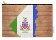 Yukon Rustic Map On Wood Carry-all Pouch