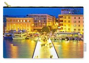 Zadar Colorful Blue Evening View Carry-all Pouch