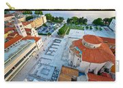 Zadar Forum Square Ancient Architecture Aerial View Carry-all Pouch