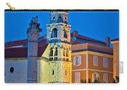 Zadar Landmarks Evening Vertical View Carry-all Pouch