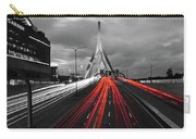 Zakim Bridge And Td Garden Boston Ma Red Tail Lights Carry-all Pouch