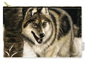 Zane Gray Wolf Carry-all Pouch