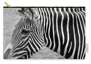 Zebra - Here It Is In Black And White Carry-all Pouch