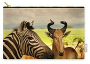 Zebra And Antelope Carry-all Pouch