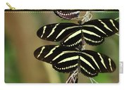Zebra Butterflies Hanging On Carry-all Pouch