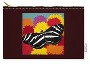 Zebra Butterfly Carry-all Pouch