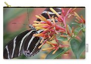 Zebra Butterfly With Blue Eyes Carry-all Pouch