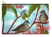 Zebra Doves Or Barred Dove Birds #309 Carry-all Pouch