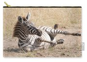 Zebra Foal Rolls In Dust On Savannah Carry-all Pouch