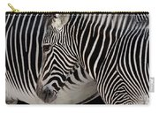 Zebra Head Carry-all Pouch by Carlos Caetano
