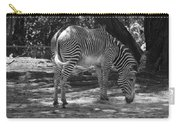 Zebra In Black And White Carry-all Pouch