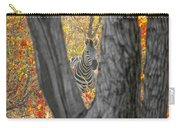 Zebra In Mopane Textures Carry-all Pouch