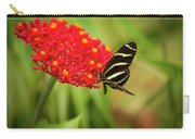 Zebra Long Wing Butterfly Carry-all Pouch
