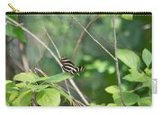 Zebra Longwing Butterfly About To Take Flight Carry-all Pouch