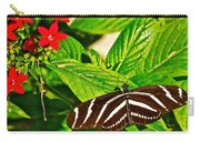 Zebra Longwing Butterfly In Living Desert Zoo And Gardens In Palm Desert-california  Carry-all Pouch
