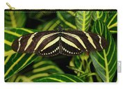 Zebra Longwing Butterfly On A Sanchezia Nobilis Tropical Plant Carry-all Pouch