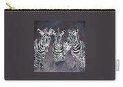 Zebra Oil Painting Carry-all Pouch