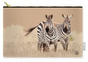 Zebra Pair Carry-all Pouch