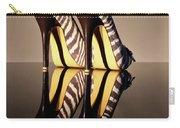 Zebra Print Stiletto Carry-all Pouch