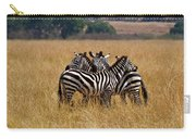 Zebra Protect Each Other Carry-all Pouch