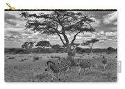 Zebra Running Through Savannah Carry-all Pouch