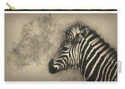 Zebra Study Carry-all Pouch