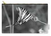 Zebra Swallowtail Butterfly Black And White Carry-all Pouch