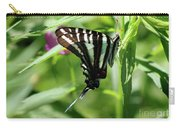 Zebra Swallowtail Butterfly In Green Carry-all Pouch