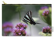 Zebra Swallowtail Butterfly On Verbena Carry-all Pouch