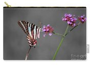 Zebra Swallowtail Butterfly With Verbena Carry-all Pouch