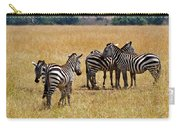 Zebra Togethering Carry-all Pouch