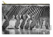 Zebras Drinking Carry-all Pouch