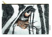 Zebras Eye - Colored Pencil Art  Carry-all Pouch