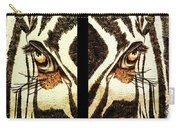 Zebras Eye - Studio Abstract Sepia Carry-all Pouch