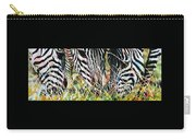 Zebras In The Grass Carry-all Pouch