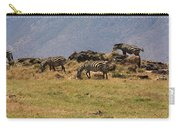 Zebras In The Ngorongoro Crater, Tanzania Carry-all Pouch