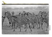 Zebras On The March Carry-all Pouch